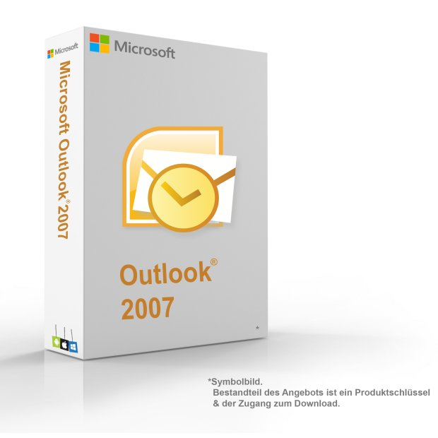 MS Microsoft Outlook 2007 1PC 32-Bit Original