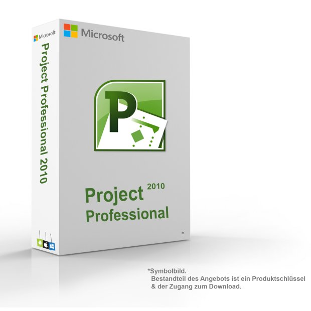 MS Microsoft Project 2010 Professional 1PC Original 32/64-Bit