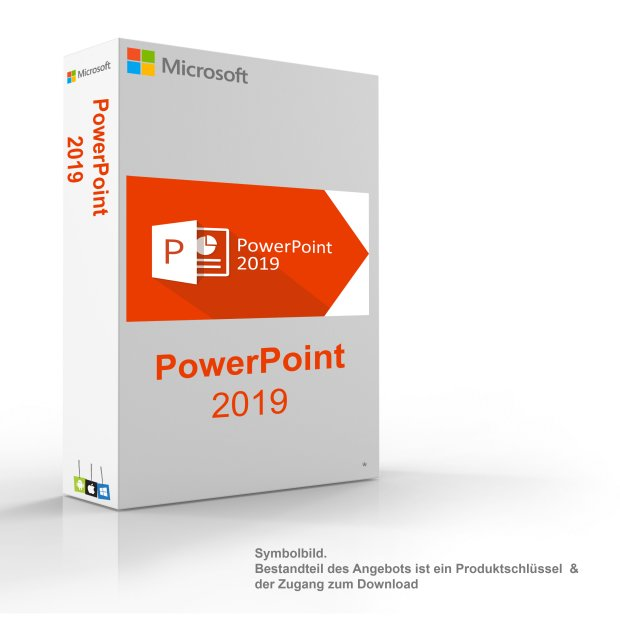MS Microsoft PowerPoint 2019 1PC Original 32/64-Bit