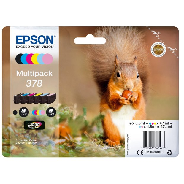 Epson Multipack Claria Photo HD T 378 (6 Farben)          T 3788